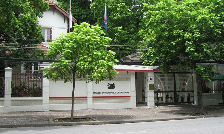 Địa chỉ của đại sứ quán Singapore ở thủ đô Hà Nội