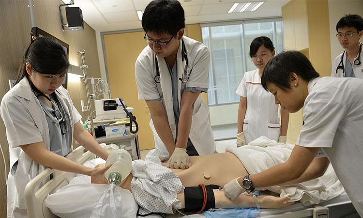 Học tập và thực hành thực tiễn khi theo học Y khoa tại Singapore