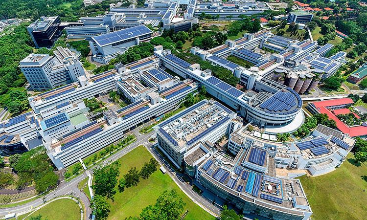 Khuôn viên trường Đại học Công nghệ Nanyang rộng lớn