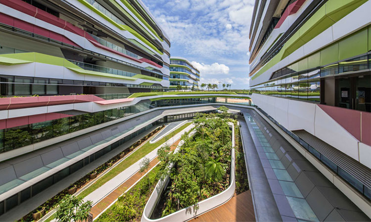 Đại học Công nghệ & Thiết kế Singapore tọa lạc tại thành phố Tampines, Singapore